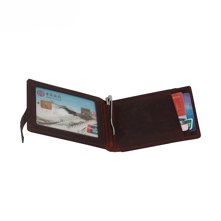 13626C Mad Horse Skin Men Wallet with Advanced RFID Secure