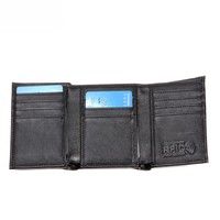 13631 Tri-fold Ultra Slim PU Men Wallet with Advanced RFID Secure