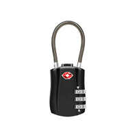 13324 Zinc Alloy TSA Approved 3 Dial Combination Luggage Lock