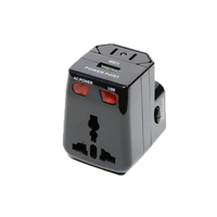 13687 Universal International Plug Adapter With USB Port