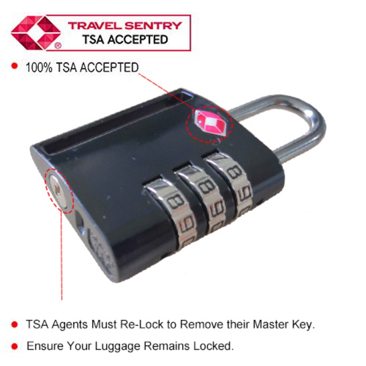 16009 Luggage Combination Lock with Alert Indicator TSA Approved
